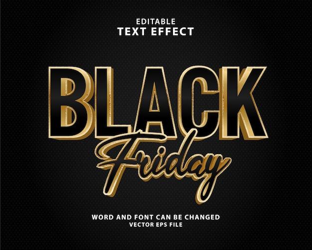 Effetto testo vendita venerdì nero modificabile in 3d