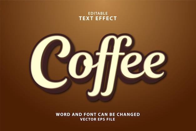 Effetto di testo eps caffè modificabile 3d
