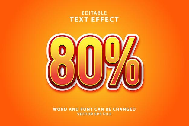 Effetto testo sconto prodotto modificabile 3d