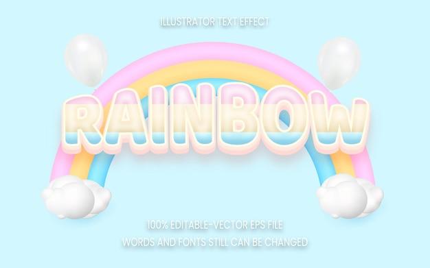 Effetto di testo arcobaleno modificabile in 3d