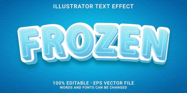 Effetto di testo modificabile 3d - stile congelato