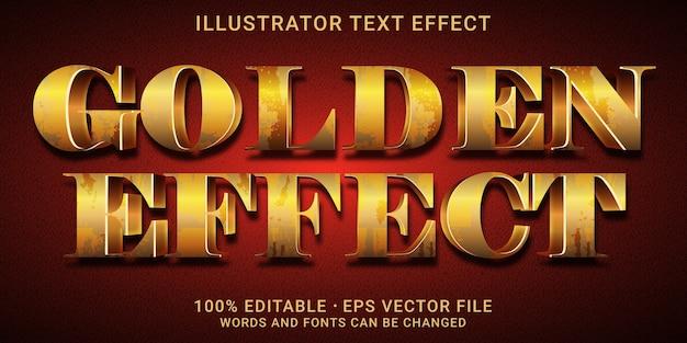 Effetto di testo modificabile 3d - stile effetto dorato