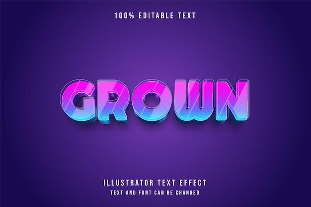 3d testo modificabile effetto rosa gradazione viola blu stile moderno