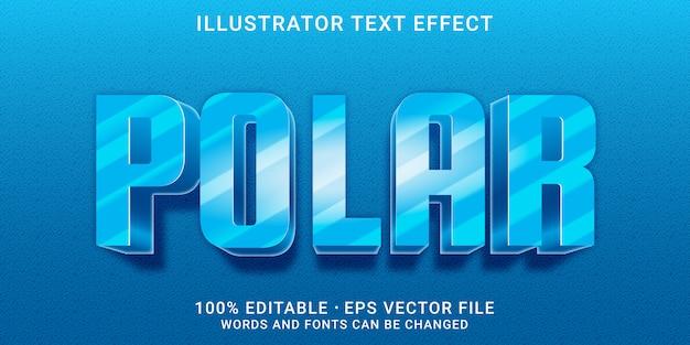 Effetto di testo modificabile 3d - stile polare