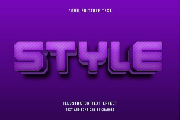 3d testo modificabile effetto viola modello moderno stile ombra