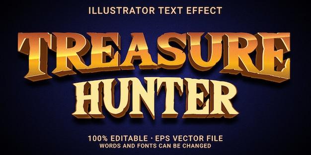 Effetto di testo modificabile 3d - stile treasure hunter