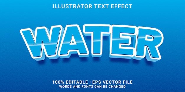 Effetto di testo modificabile 3d - stile acqua