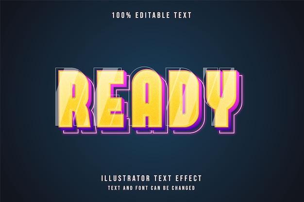 Effetto di testo modificabile 3d stile al neon viola rosa gradazione gialla
