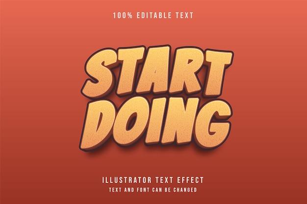 Effetto di testo modificabile 3d stile di gioco giallo gradazione modello rosso