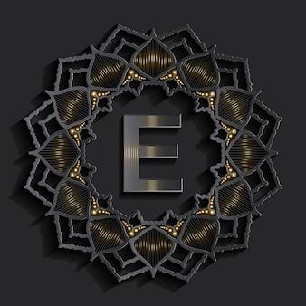 Logo monogramma effetto 3d Vettore Premium