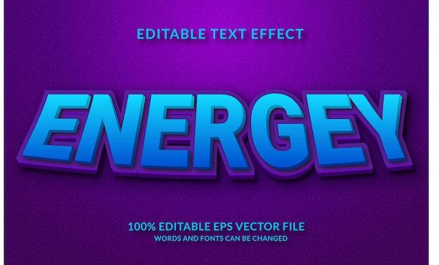 Stile di testo modificabile effetto testo 3d energey