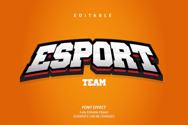 Emblema 3d esport text effect premium
