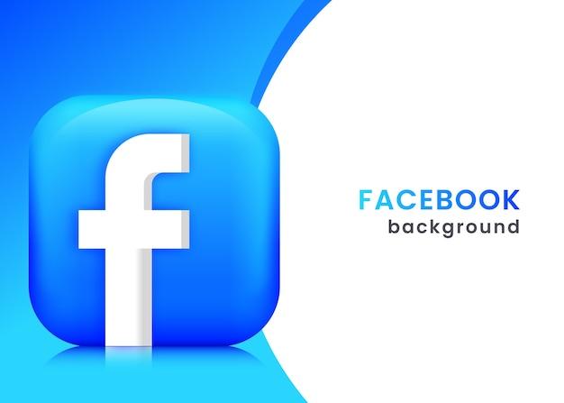 Sfondo o banner 3d di facebook
