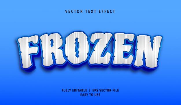 Effetto di testo congelato 3d, stile di testo modificabile