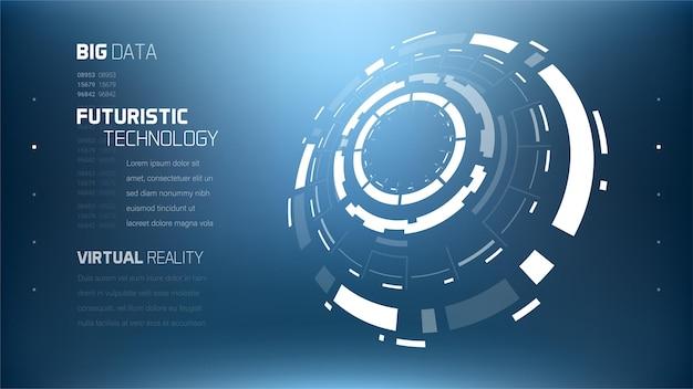 Elementi del cerchio di tecnologia futuristica 3d.