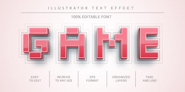 Effetto testo di gioco 3d, stile del carattere