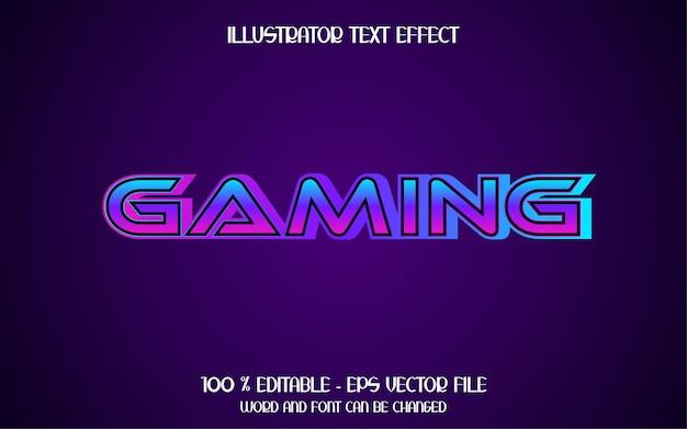 Effetto testo di gioco 3d