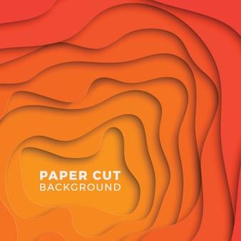 Sfondo geometrico 3d con strati di carta tagliati realistici. layout di progettazione