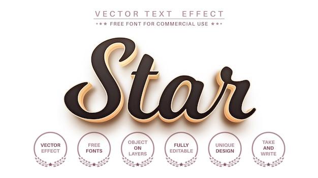 Stile del carattere effetto testo modificabile oro 3d
