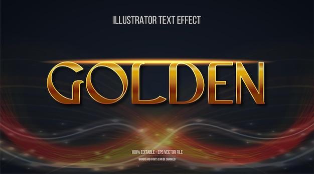 Effetto di testo dorato 3d