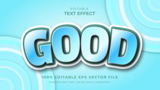Premium modificabile in stile cartone animato effetto buon testo 3d