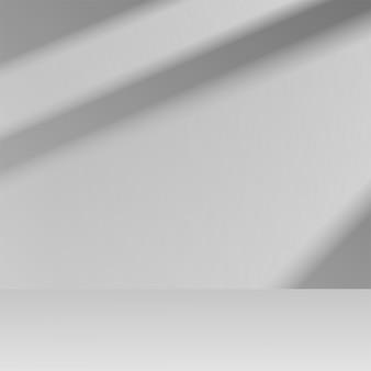 Scena del podio dell'esposizione della vetrina del prodotto del fondo della fase grigia 3d con ombra morbida. illustrazione vettoriale