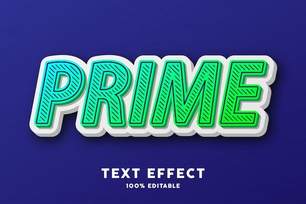 Pop art verde 3d, effetto di testo