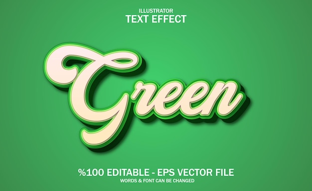 Effetto di testo verde 3d