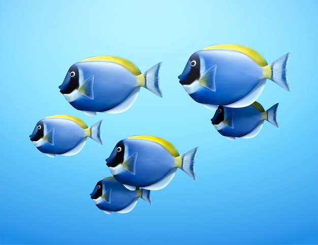 Illustrazione 3d di codolo blu