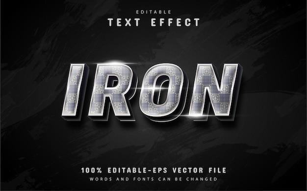 Effetto di testo in ferro 3d