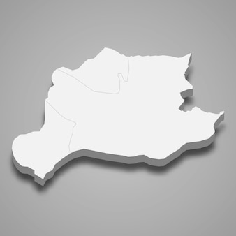 La mappa isometrica 3d di bayburt è una provincia della turchia