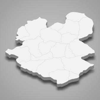 La mappa isometrica 3d di erzurum è una provincia della turchia