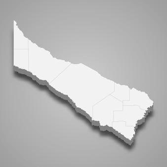La mappa isometrica 3d di formosa è una provincia dell'argentina