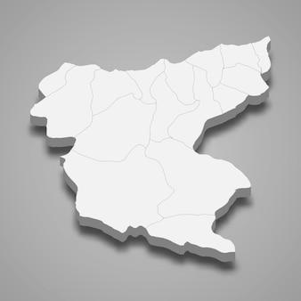La mappa isometrica 3d di giresun è una provincia della turchia