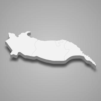 La mappa isometrica 3d di igdir è una provincia della turchia