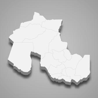 La mappa isometrica 3d di jujuy è una provincia dell'argentina