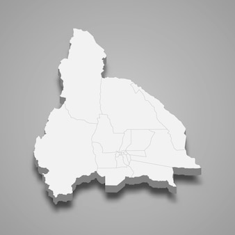 La mappa isometrica 3d di san juan è una provincia dell'argentina