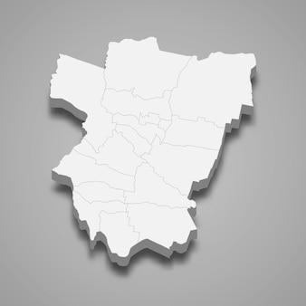 La mappa isometrica 3d di tucuman è una provincia dell'argentina