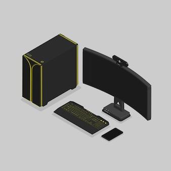 Set di giochi per pc isometrico 3d