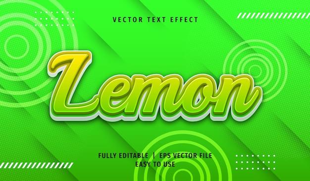 Effetto testo 3d limone, stile di testo modificabile