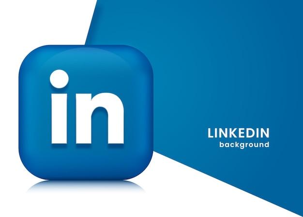 Sfondo o banner di linkedin 3d