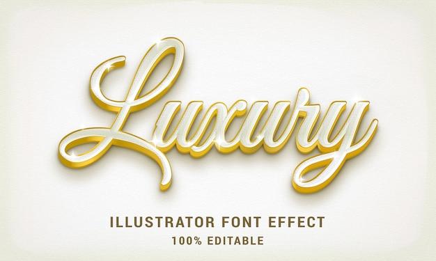 Bianco di lusso 3d - effetto di testo facilmente modificabile