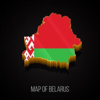 Mappa 3d della bielorussia