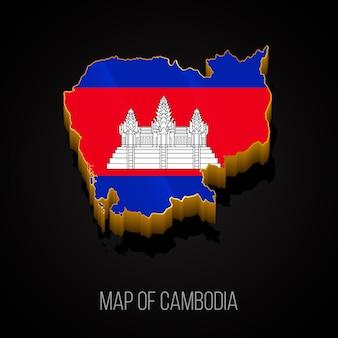 Mappa 3d della cambogia