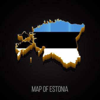 Mappa 3d dell'estonia