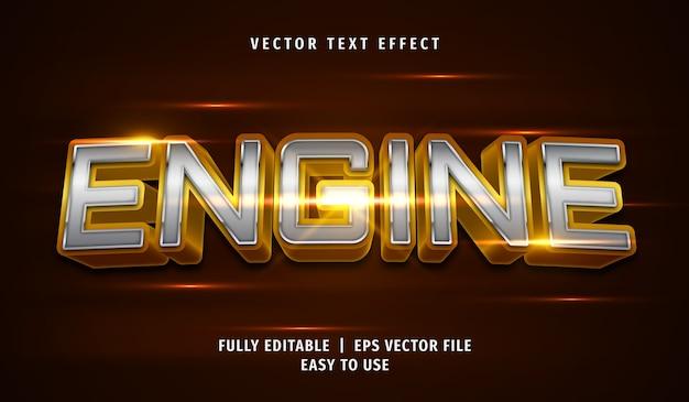 Effetto di testo del motore metallico 3d, stile di testo modificabile