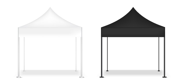 3d mock up realistic tent display mostra stand pop