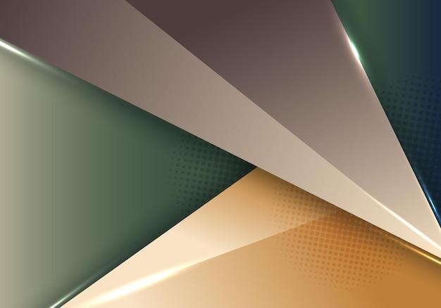 Modello astratto moderno 3d geometrico con illuminazione con sfondo mezzitoni. illustrazione vettoriale