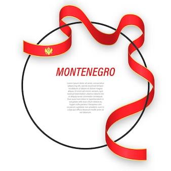3d montenegro con bandiera nazionale.