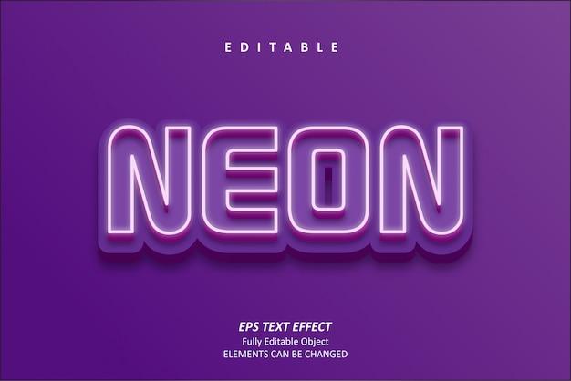 Effetto di testo 3d neon violet